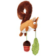 Squirrel Textile Clip - Toy for car seat/pram Sigikid