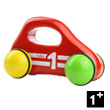 Red Baby Car with handle - Wooden Toy Vilac