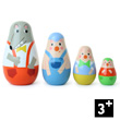 Three Little Pigs Nesting Dolls Vilac