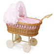 Doll wicker pram for doll up to 40cm Petitcollin