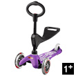 Mini Micro Deluxe Scooter 3-in-1 - Scooter & Ride-on - Purple Micro Mobility Scooters & Kickboards