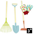 Large Garden Tools Set - 3 tools and gloves