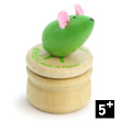 Wooden teeth box - Green Mouse