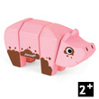 Funny Animal Kit Pig - Wooden Puzzle Janod