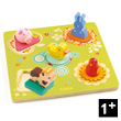 Wooden Puzzle Bildi - Early age puzzle Djeco