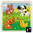 Tactile Puzzle My First Animals (4 pieces) Janod