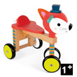 Fox Wooden Ride-on Toy - Baby Forest Janod