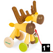 Pull-Along Elk - Zigolo - Wooden Toy