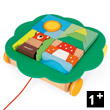 Trolley with blocks - Wooden Pull Along Toy Janod