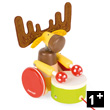 Pull-Along Drum Elk - Zigolo - Wooden Toy