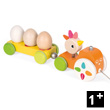 Pull-Along Tractor Hen - Wooden Toy