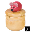 Wooden Tooth Box - Pink Mouse Janod