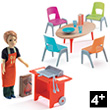 Barbecue and accessories - Addon for Dollhouse Djeco