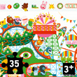 Observation Puzzle Crazy Park 35 pieces + poster Djeco