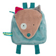 Little Backbag Wolf - Blue - Les Jolis Pas Beaux Moulin Roty