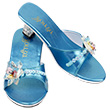 Maerle - Pair of Slippers with heels, metallic blue Souza for kids