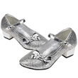 Sparkling Shoes with high heel Aurora - Silver Souza for kids