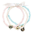 Aafke Bracelets pink/pearly/water green - Kids Jewelry