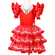 Red and White Dress Marisol - Costume for kids Souza for kids