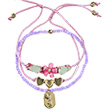 Bracelets Bibiane rose/lilas/or - Bijoux pour enfants Souza for kids