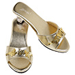 Pair of Golden Slippers High Heel Marion Souza for kids