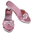 Pair of pink metallic Slippers High Heel Nicoline Souza for kids