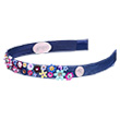 Tiara Romée, navy blue, fully elastic - Accessory for girls
