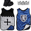 King/Knight Reversible Set, Silver/Blue - Costume for boy ages 7-8