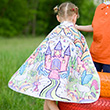 Colour-A-Cape Princess with 8 markers - Kid Costume Great Pretenders