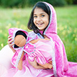 Diamond Sparkle Cape Dark Pink - Kid Costume Great Pretenders