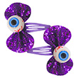 Pair of Eye-Bowed Snap Clips - Scaring Jewelry