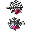 Spinfully Spider Hair Clips (1 pair) Great Pretenders