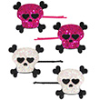 Skull Hearted Clips (2 pairs)