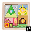 Woodland Puzzle Blocks - Preschool Wooden Toy Le Toy Van