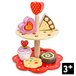 2 Tier Cake Stand Set - Wooden Toy