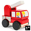 Fire Engine Stacker - Wooden Toy Le Toy Van