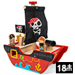 Little Capt'n Pirate Boat - Wooden Toy