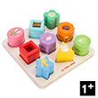 Petilou Sensory Shapes - Wooden Toys for Toddlers Le Toy Van