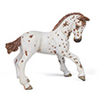 Poulain appaloosa brun - Figurine à collectionner