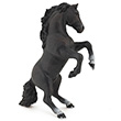 Black reared up horse - Papo Figurine Papo