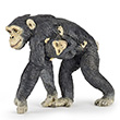 Chimpanzee and baby - Plastic Figurine Papo