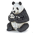 Sitting panda and baby - Collectible Figurine