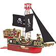 Pirate Ship Gift Box with 3 figurines - Wooden Toys Papo