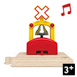 Automatic Train Bell Signal - Accessory for Wooden Train Hape Toys