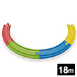 Rainbow Track Pack for Wooden Train Hape Toys