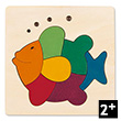 Wooden Puzzle Rainbow Fish (8 pieces) by George Luck Hape Toys