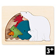 Wooden 5-layer Puzzle Polar (6 pieces) by George Luck Hape Toys