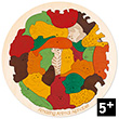 Wooden Puzzle Amazing Animal Alphabet (27 pieces) Hape Toys
