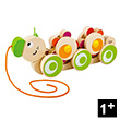 Walk-A-Long Caterpillar - Wooden Pull-along Toy Hape Toys