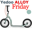 Trottinette Alu Friday - Silver Green - Yedoo ALLOY
